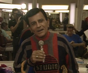 Casey Kasem apparently raided Zack's collection of JC Penney sweaters for this episode. This was by far the worst; I think it's actually sequined.