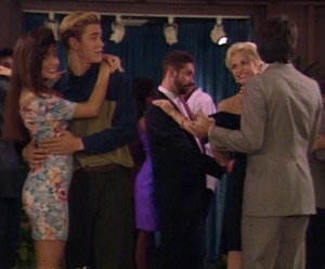 Um, who is this cougar eyeing Zack on the dance floor? Can no one in this hotel date within their own age group?