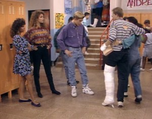 Of all people, Zack Morris should be able to recognize a fake cast when he sees one.