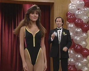 Wow, swimsuits really were absurdly high-cut in the early 90s.