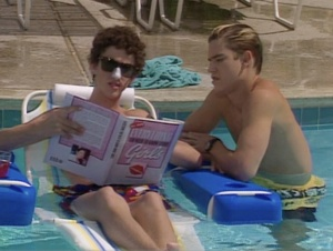 "Apparently, in addition to offering up great slang like ""I hear ya, blood!"", Screech's book is also magically waterproof."