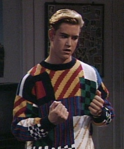 I think there are about 1502 different patterns on Zack's sweater.