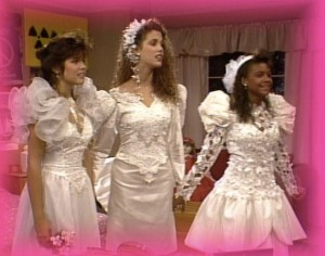 I spent quite a bit of time trying to decide which of these dresses was the ugliest, and I think Lisa's may have just edged out the others.